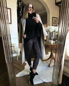 How to style printed leggings   For more style inspiration visit 40plusstyle.com