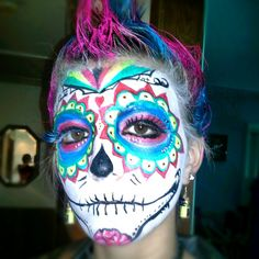 Sugar skull haloween makeup