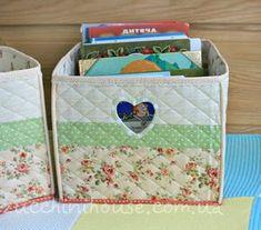 Три текстильных короба и салфетка / Three fabric baskets and napkin. | Домик маленького Цукиня