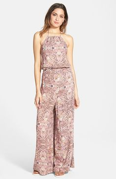 COCO & JAMESON Print Halter Jumpsuit (Juniors) available at #Nordstrom