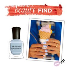 """""""Beauty Find: Deborah Lippmann Blue Orchid Nail Polish"""" by polyvore-editorial ❤ liked on Polyvore featuring beauty, Deborah Lippmann and beautyfind"""