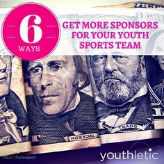 Fundraising tips and advice: 6 ways to get more sponsorship money for your sports teams: https://www.youthletic.com/articles/how-to-get-sponsorship-money-for-a-youth-sports-league/?utm_source=pinterest&utm_medium=referral&utm_campaign=organic