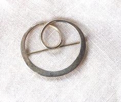 Vintage Mexican Sterling Silver Swirl Brooch