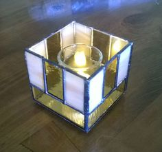 Stained Glass Votive Candle Holder
