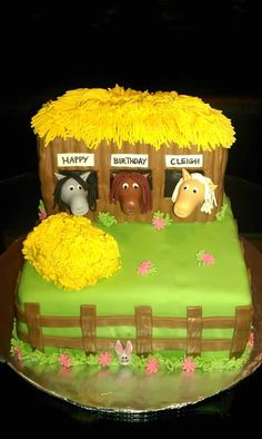 Horse Stable cake I made!  So cute!