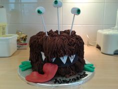 Alexander's cake part 2.  Note to self: do not leave an unguarded chocolate cake and a 6 year old boy in the same house.