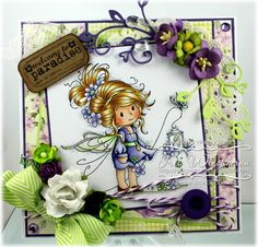 Sweet Sparkle, Whimsy Stamps Wee Collection  Paper Crafting in Cocoa