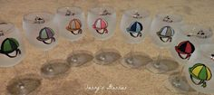 Horse Race Wine Glasses by SassysGlassies on Easy.  Great for bulk orders for a party! #wine #horserace #etsy