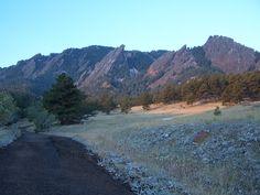 an October morn, the Flatirons, Boulder