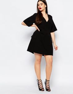 Image 4 of Boohoo Plus A-Line Skater Pocket Dress