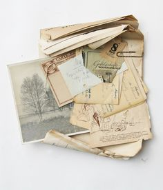 Old Letters, Pen Pal Letters, Old Paper, Vintage Paper, Photographs And Memories, Vintage Lettering, Book Aesthetic, Mixed Media Artists, Altered Books