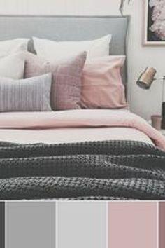 Home Bedroom Mattress Bedding Color scheme Bed frame Bed sheet Pink Bedroom Color Schemes, Bedroom Colors, Master Bedroom Color Ideas, Room Ideas Bedroom, Home Decor Bedroom, Mauve Bedroom, Deco Design, My New Room, Bed Frame