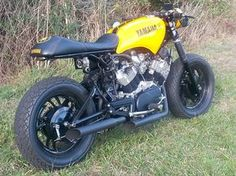 Great looking Xv920 virago cafe project using almost all stock parts !