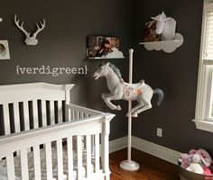 | DIY | Painted Upcycled Carousel Horse Project | Nursery Ideas | Custom Color Mixing & Fun Paint Projects | Chalk Paint® by Annie Sloan | Verdigreen