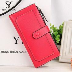 2016 New Fashion Women Wallets 11 Card Horder Clutch Purse Multifunctional Wristlet Bags Carteira Feminina smb768