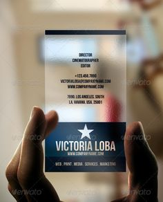 Corporate Transparent Business Card http://www.bce-online.com/en