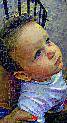 Paper Mosaic, Mosaic Portrait, Mosaic Artwork, Mosaic Madness, Torn Paper, Xmas Ornaments, Byzantine, Face And Body, Stained Glass