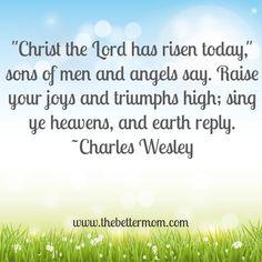 We rejoice because Christ has risen! Happy Resurrection Sunday!!