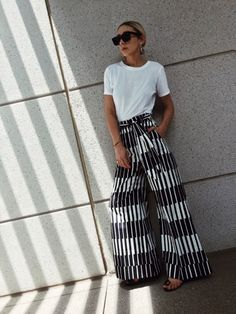 Bold and graphic wide-leg pants