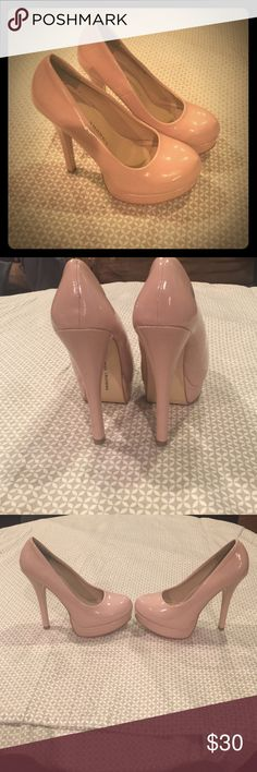 Chinese Laundry Blush Pink Heels Size US 7 Watch out!! These sexy pink heels are to die for!! Worn once Size 7 Blush Pink! 5 1/2 inch platform heels Chinese Laundry Shoes Heels