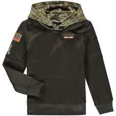 Kansas City Chiefs Nike Youth Salute to Service Performance Pullover Hoodie  - Olive 2ea884252