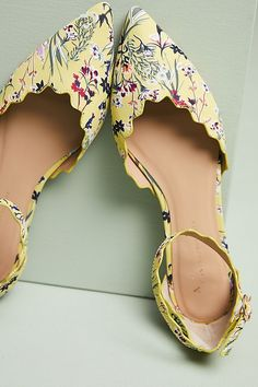 Slide View: 2: Anthropologie Scalloped D'Orsay Flats