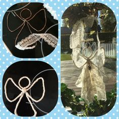 Diy angel from wire and lace