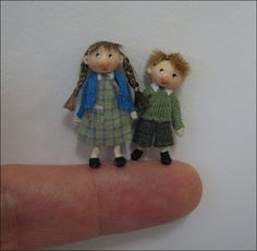 "Adora Bella Minis: 48th Scale Children.  the little boy is just 1"" tall."