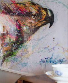 Ein Bild mit einem farbenfrohen Straßenkunstmotiv von Chen Yingjie alias Hua Tunan aus China