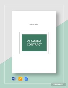 Cleaning Contract Template - Word (DOC) | Google Docs | Apple (MAC) Pages | Template.net Cleaning Contracts, Cleaning Service, Cleaning Business, Google Docs, Word Doc, Letter Size, Clean House, Apple Mac, Microsoft Word
