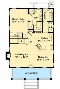 Three Bedrooms and a Loft - 42820MJ | Architectural Designs - House Plans #homeflooringideas