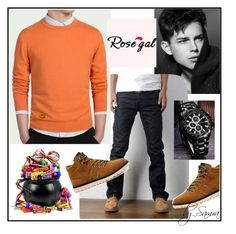 """""""Men's style by Rosegal - 9"""" by samra-dzabija ❤ liked on Polyvore featuring Curren, men's fashion and menswear"""