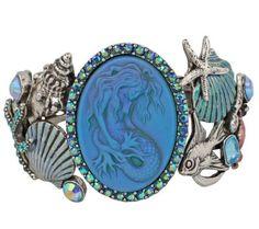 Kirks Folly Lorelei Mermaid Sea Queen Cuff Bracelet Antique Silvertone | eBay