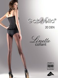 3c93fd640e1 Gabriella Linette backseam 20 denier sheer tights DELIVERED FAST worldwide  at European prices from Pantyhose And More