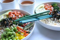 Sushi Bowls #recipe via The Fare Sage http://www.yummly.com/recipe/Sushi-Bowls-1695589