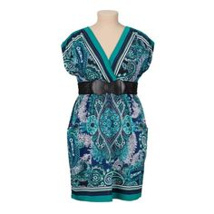 Belted Kabuki Dress A lovely, soft stretchy material with a Japanese inspired print. Removable black crochet belt with metal snaps. Worn only once. In Maurice's plus size 3 which is equivalent to about a size 18. Maurices Dresses Midi