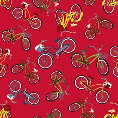 CRUISER on RED fabric by deesignor on Spoonflower - custom fabric