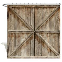 Old Wood Doors Or Barn Doors Shower Curtain by ShaNickersWallDecals on Etsy https://www.etsy.com/listing/465645820/old-wood-doors-or-barn-doors-shower