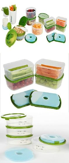 The Perfect Portion Kit is a complete set of reusable containers for eating correct portions - great for anyone trying to eat right and stay healthy! #fitfresh perfect portion....I NEED THIS IN MY LIFE