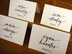 Love!! Brianne Connolly @ brown fox calligraphy http://www.etsy.com/shop/brownfoxcalligraphy