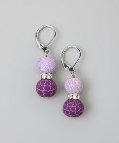 Take a look at this Lilac & Crystal Earrings by JILZARA on #zulily today!