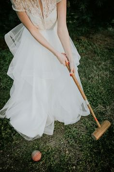 croquet with the bride