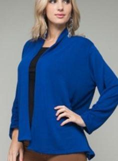 Blue Cardigan www.UsTrendy.com