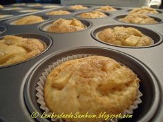 Muffins de manzana muy buena receta, yo pondría la manzana cortada mas chiquita