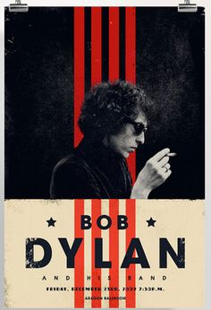 Gig poster for Bob Dylan show at the Aragon Ballroom, 2009. By Adam And Company ( Concert Poster / Rock Poster / Graphic Design / Print )