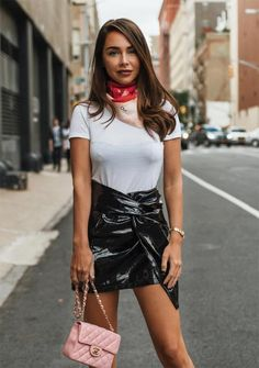 8680f93b How to Wear a Vinyl Skirt: 7 Vinyl Skirts to Shine Throughout 2019