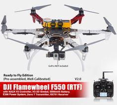 DJI F550 V2.0 w/ NAZA V2 and H3-2D Gimbal (RTF) - DJI-Drone-F550-NAZA-V2-H3-2D-RTF-V2