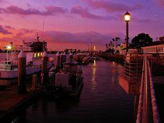 Dusk, Alamitos Bay, Long Beach, California