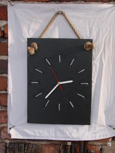 facebook: moniuszki6.pl Diy Clock, Wooden Clock, Ceramic Art, Alphabet, Clocks, Ceramics, Watches, Facebook, Home Decor