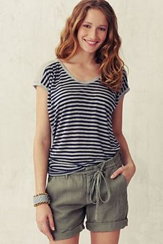 gray line shirt - navy